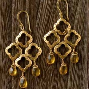 Gold and crystal statement earrings